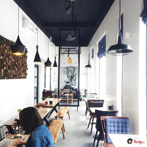 đèn thả quán cà phê, đèn trang trí quán cà phê,
