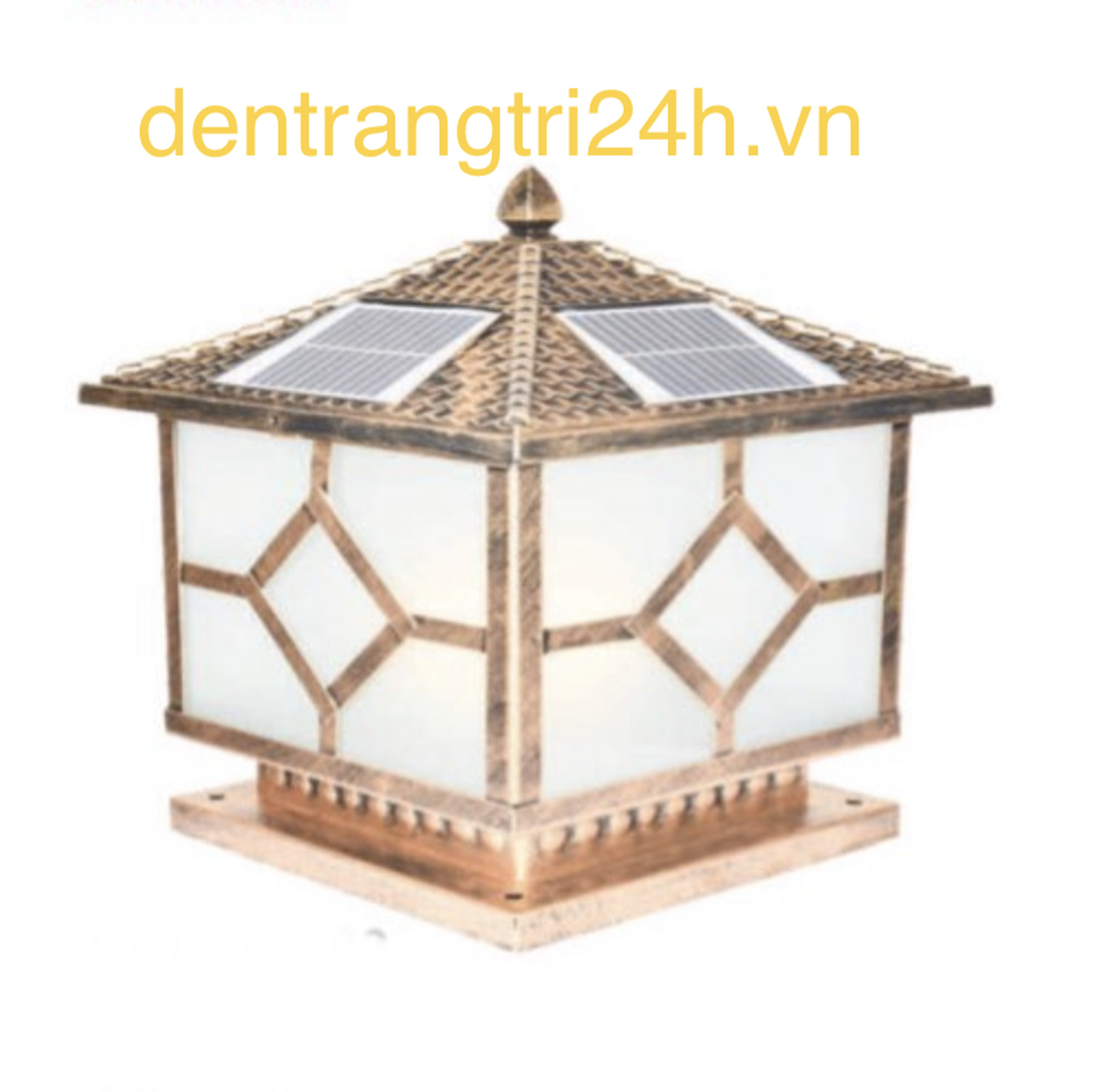 Đèn trụ cổng năng lượng mặt trời CT1 Solar-04  L400xH350