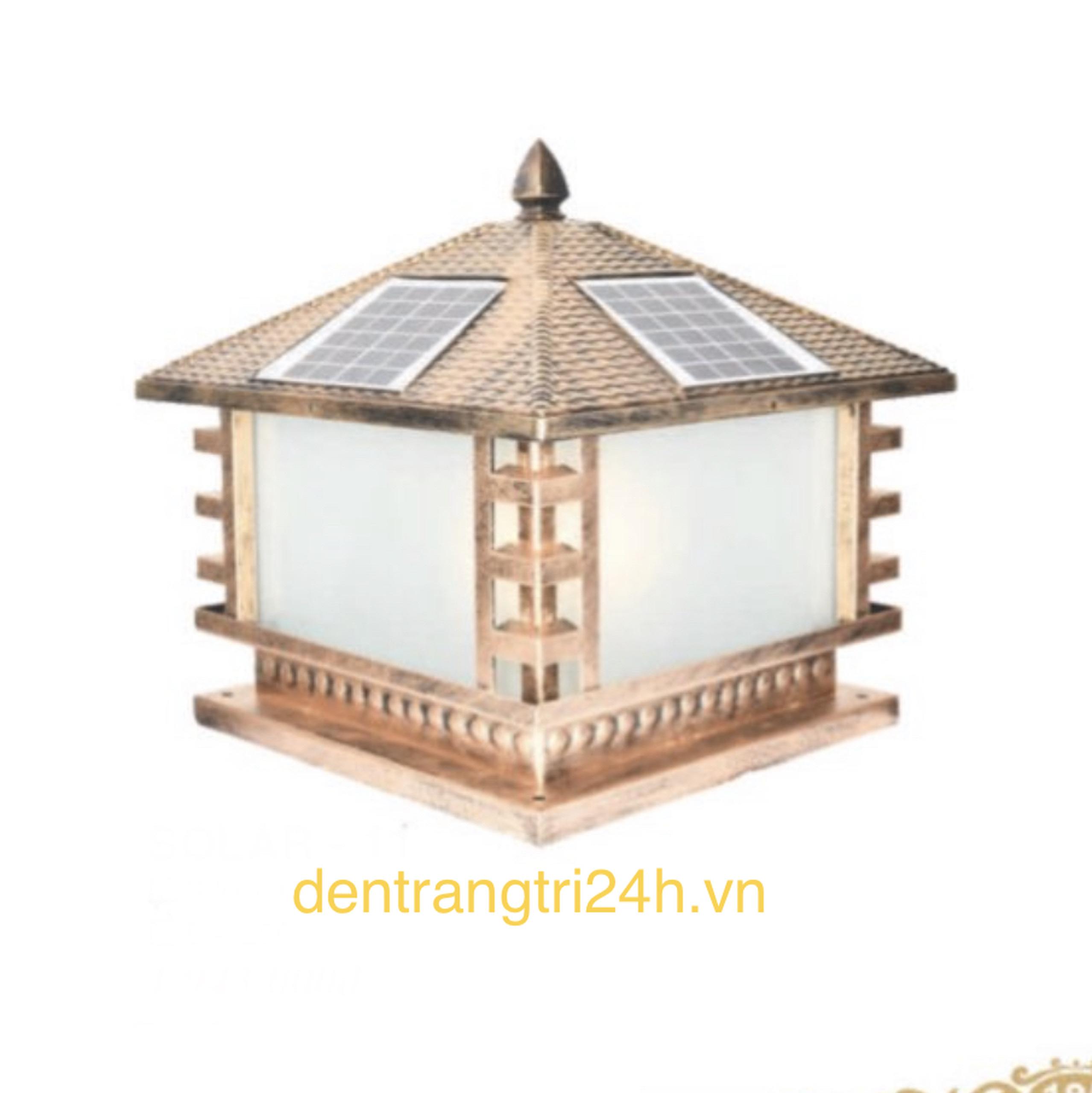 Đèn trụ cổng năng lượng mặt trời CT1 Solar-12  L400xH350