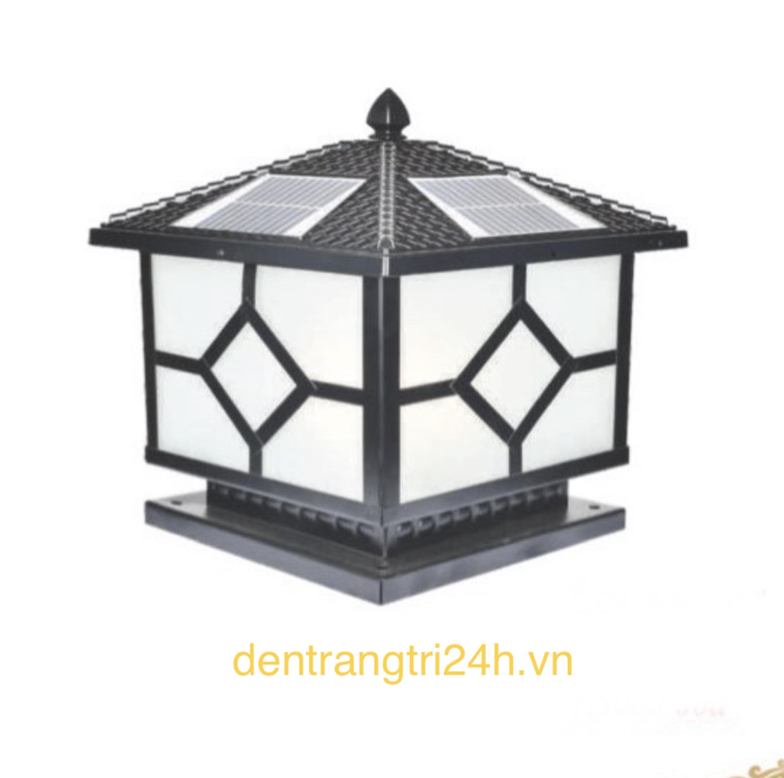 Đèn trụ cổng năng lượng mặt trời CT1 Solar-08  L400xH350