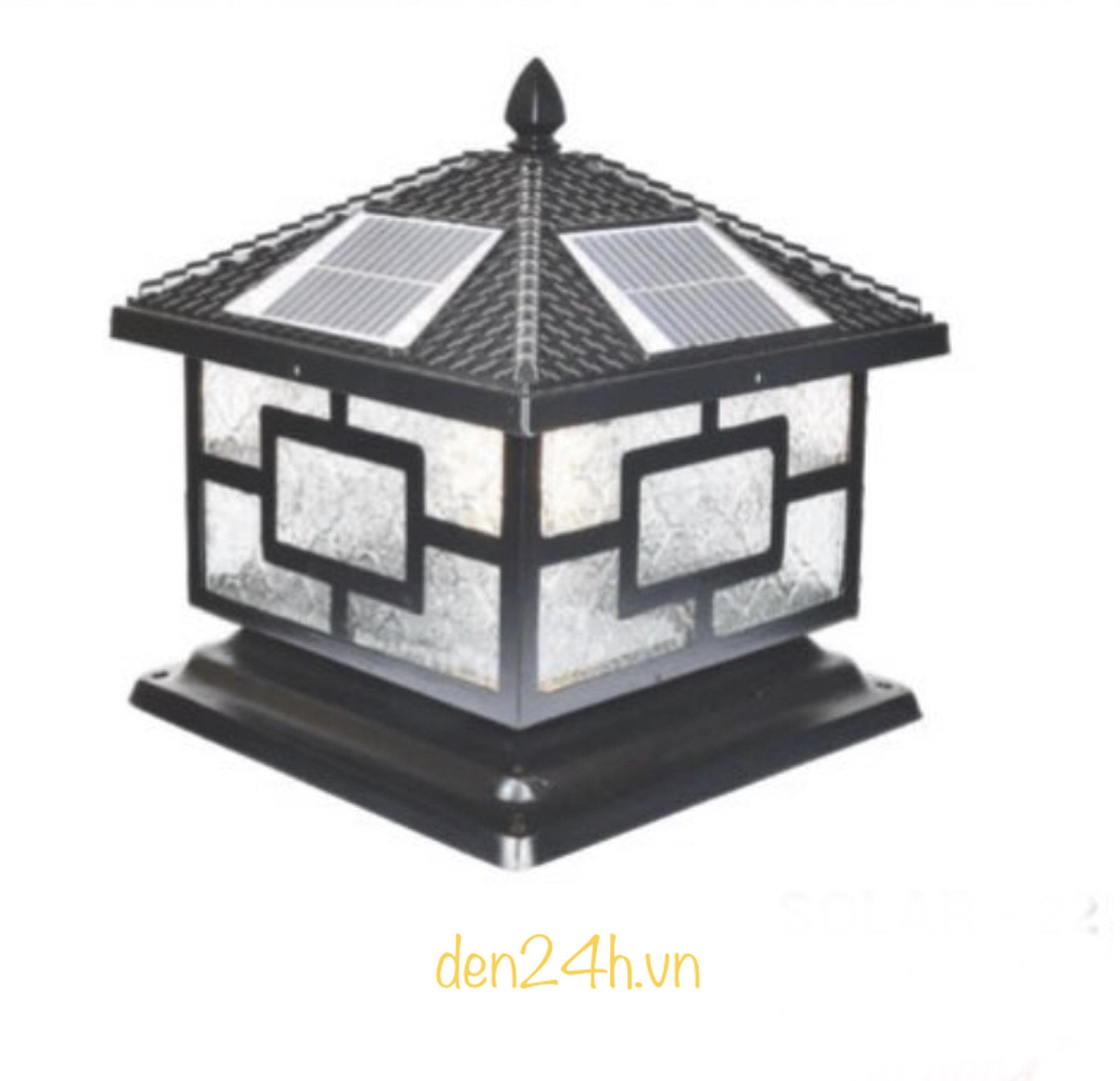 Đèn trụ cổng năng lượng mặt trời CT1 Solar-24  L400xH350