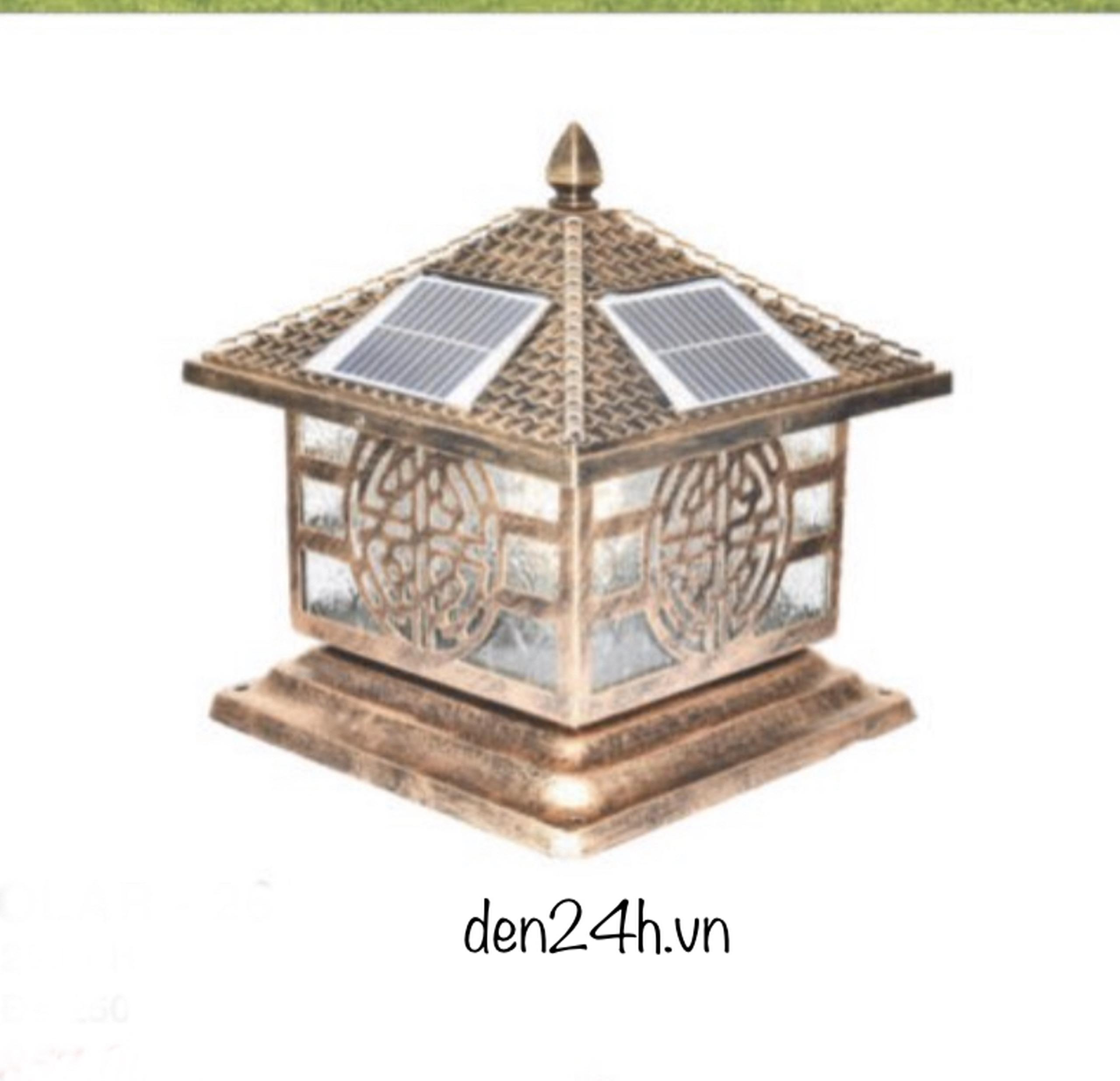 Đèn trụ cổng năng lượng mặt trời CT1 Solar-28  L400xH350