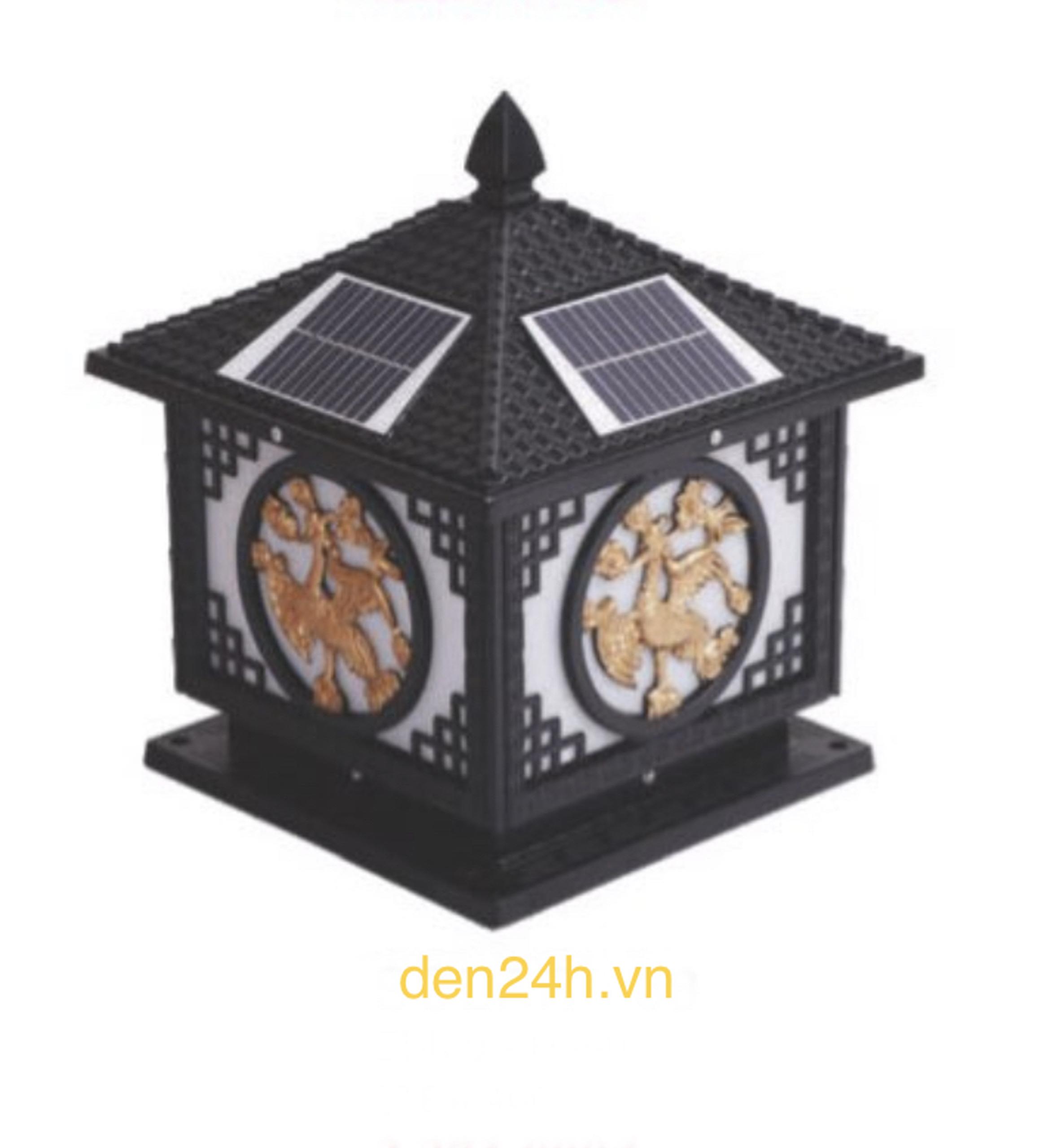 Đèn trụ cổng năng lượng mặt trời CT1 Solar-38  L400xH350