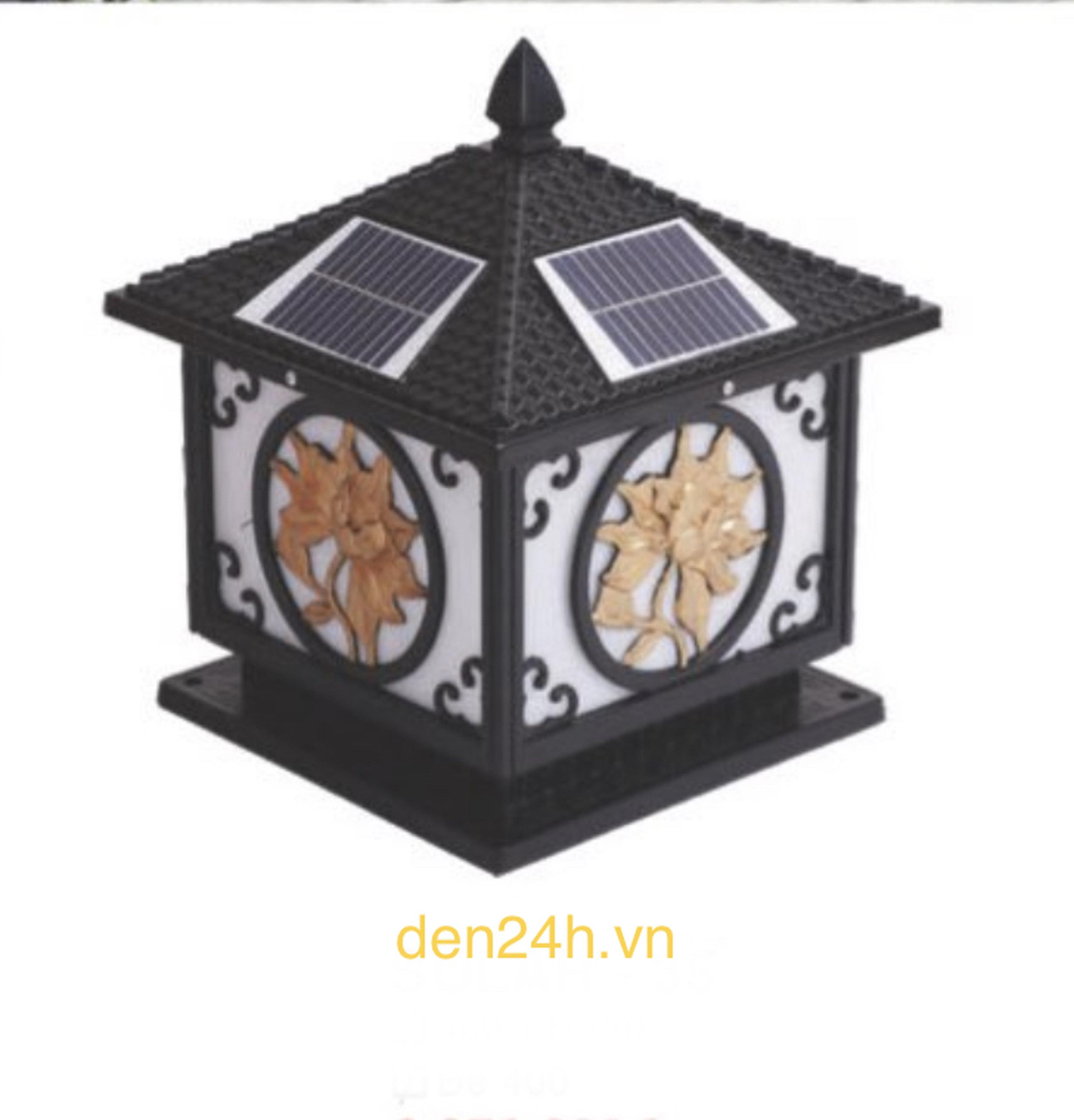 Đèn trụ cổng năng lượng mặt trời CT1 Solar-35  L400xH350