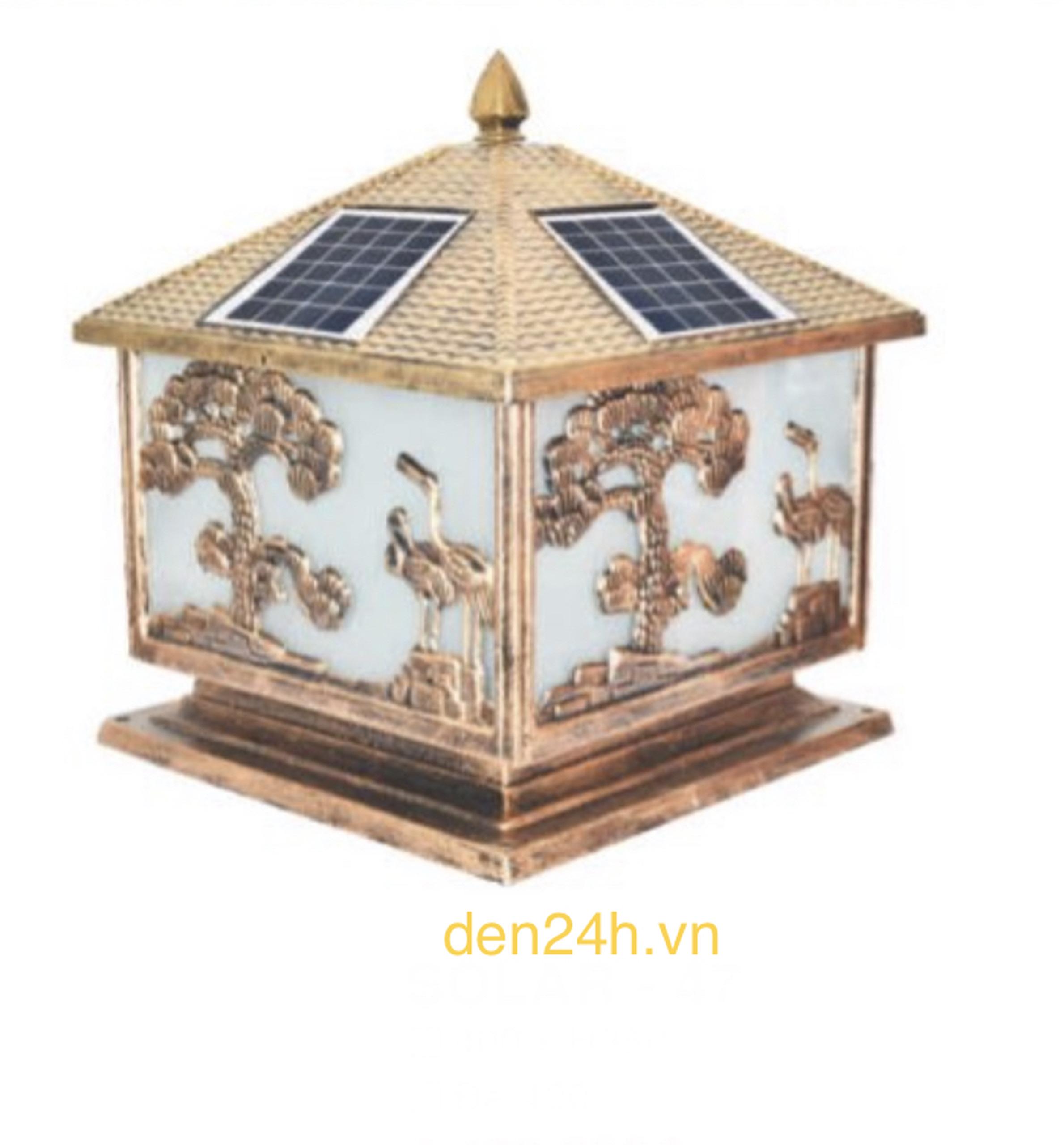 Đèn trụ cổng năng lượng mặt trời CT1 Solar-47 L400xH350
