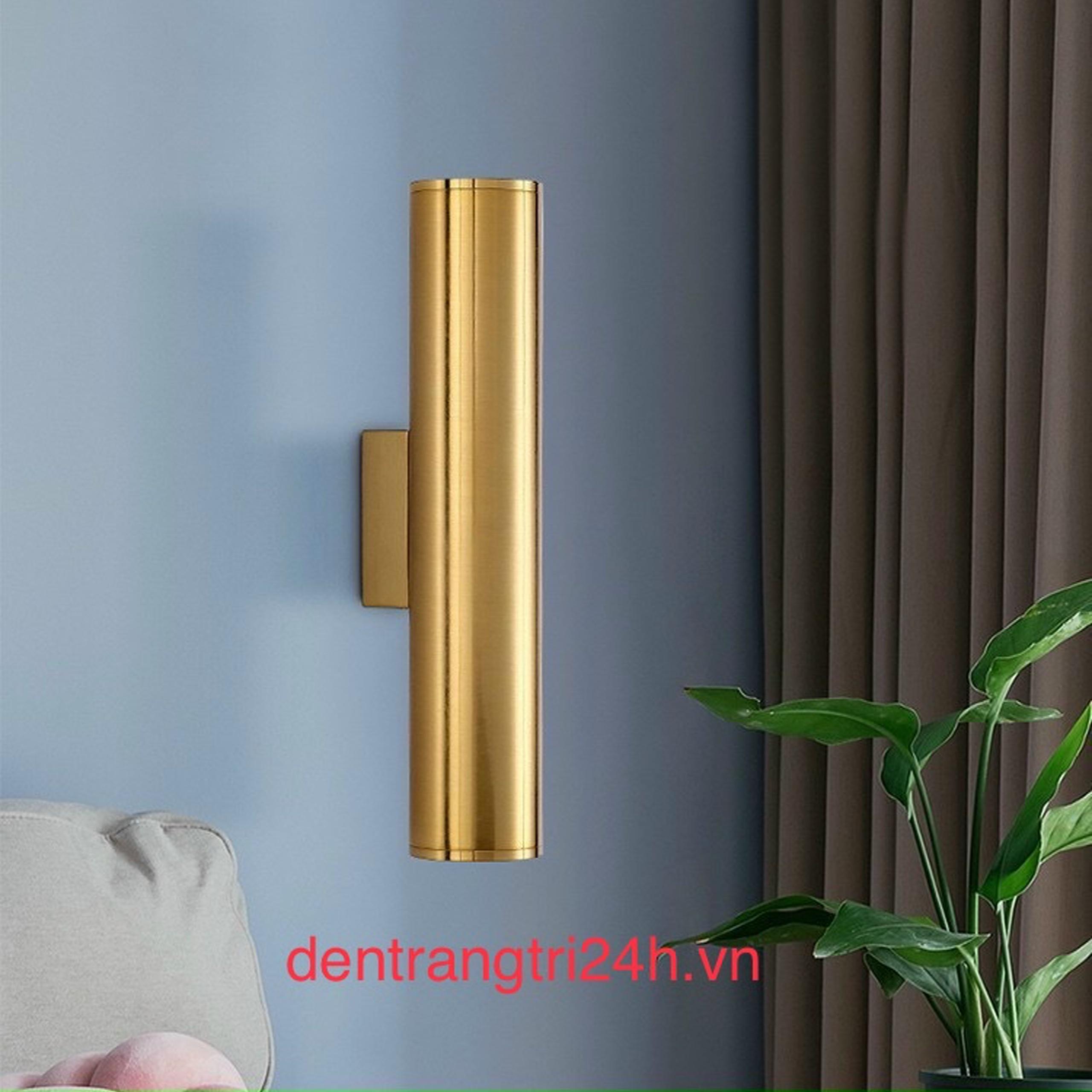 Đèn Tường Trang Trí CTK5 VK.2273 xi vàng Ø80xH300