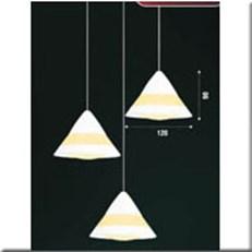 Đèn Thả Thủy Tinh BKT T 1190/3 Ø240