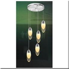 Đèn Thả Thủy Tinh BKT T 1248/5 Ø300
