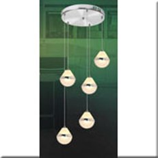 Đèn Thả Thủy Tinh BKT T 1246/5 Ø300