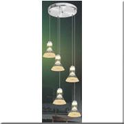 Đèn Thả Thủy Tinh BKT T 1249/5 Ø300