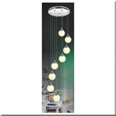 Đèn Thả Thủy Tinh BKT T 1187/8 Ø300