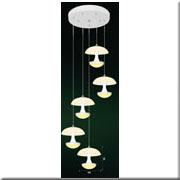Đèn Thả Thủy Tinh BKT T 1188/5 Ø300