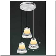Đèn Thả Thủy Tinh BKT T 1245/3 Ø240