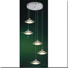 Đèn Thả Thủy Tinh BKT T 1181/5 Ø300