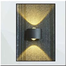 Đèn Tường LED PT1 VNT-618-19 đen L80xW90