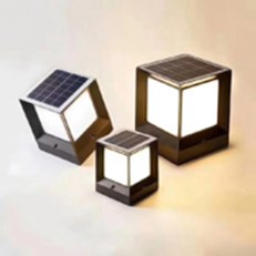 Đèn Trụ Cổng năng lượng mặt trời PT4 TD07-18 W150xH190mm