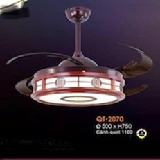 Đèn Quạt Cánh Xếp VE1 QT-2027 Ø500