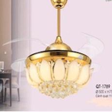 Đèn Quạt Cánh Xếp pha lê VE1 QT-1789