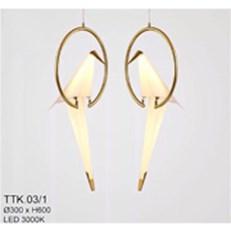 ĐÈN THẢ CHIM LED  CTK2 TK.09-1 Ø300xH600