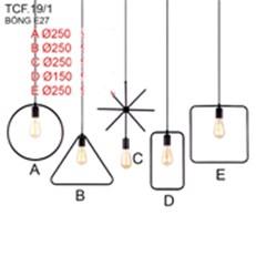 Đèn Thả Bàn Ăn CTK2 TCF.19/1