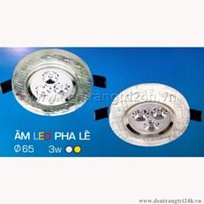 Đèn Led Âm Trần Pha Lê 3W H2 38 Ø65