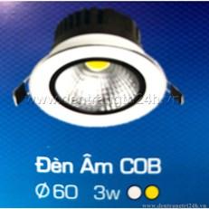 Đèn Led Âm Trần COB H2 62 Ø60