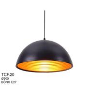 Đèn Thả Bàn Ăn CTK5 TCF.20A Đen Ø300