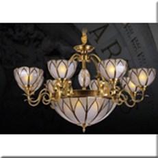 Đèn Chùm Nến Đồng HP1 CĐ9001/8 Ø1000xH500+450