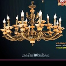 Đèn Chùm Đồng VE1 CĐ-3260/18 Ø1020xH700