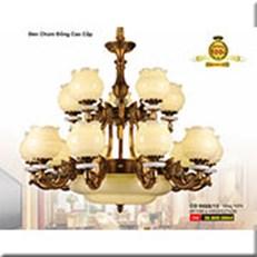 Đèn Chùm Đồng WQ1 CĐ 8608/15 Ø1100xH950