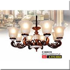 Đèn Chùm Cổ Điển WQ2 C 8682/8 Ø700xH400
