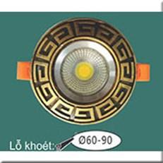 Đèn LED Âm Trần WQ1 L 9097 Ø115, khoét lỗ Ø60-90