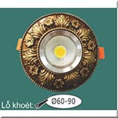 Đèn LED Âm Trần WQ1 L 9098 Ø115, khoét lỗ Ø60-90