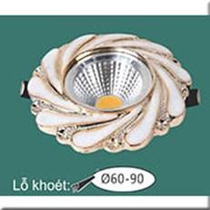 Đèn LED Âm Trần WQ1 L 7364 Ø115, khoét lỗ Ø60-90