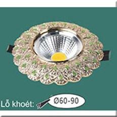 Đèn LED Âm Trần WQ1 L 7371 Ø115, khoét lỗ Ø60-90