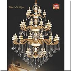 Đèn Chùm Nến Đồng VE1 CNĐ-8068/5+10+15+5 Ø1550xH2200