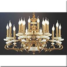 Đèn Chùm Nến Đồng VE1 CNĐ-850/20 Ø850xH520