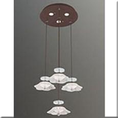 Đèn Thả LED VE T-18027/3+1 Ø300xH1000