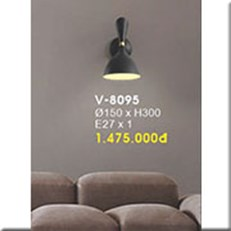 Đèn Tường Trang Trí VE1 V-8095 Ø150xH300