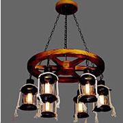 Đèn Thả Gỗ ER1 TG-D826/6 Ø680xH900
