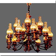 Đèn Chùm Gỗ ER1 CG-D843/10+5 Ø950xH850
