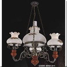 Đèn Chùm Gỗ KP1 5002-3+1 Ø600x800