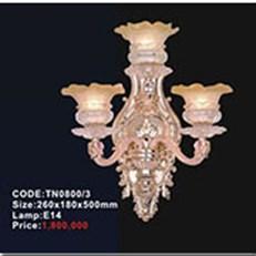 Đèn Tường Pha Lê Nến KP4 TN0800/3 260x180x500