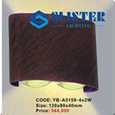 Đèn Ốp Tường Ngoại Thất KP1 YB-A5159-4x2W 120x90x40