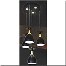 Đèn Thả LED KP5 DCT-611B-4 Ø300x1000
