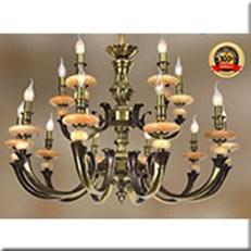 Đèn Chùm Đồng Đá KP4 DD1186/15 Ø960x630