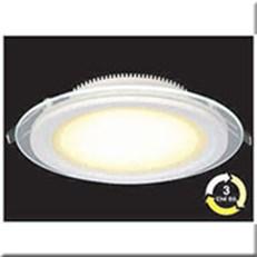 Đèn LED Âm Trần 3 Màu HP3 AT59 -12W Ø160xH40, khoét lỗ Ø120