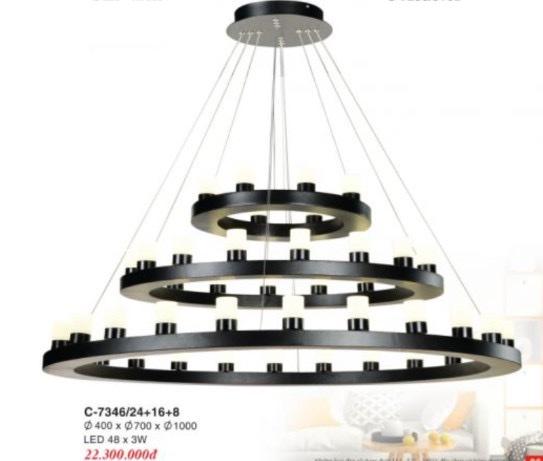 Đèn Chùm Châu Âu Euroto C-7346/24+16+8 Ø400-700-1000