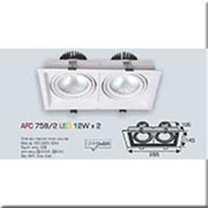 Đèn LED Âm Trần ANFACO AFC 758/2 -12w x 2