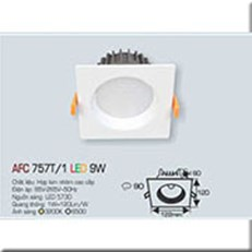 Đèn LED Âm Trần ANFACO AFC 757T/1